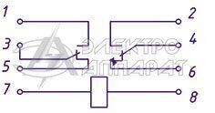 Электрическая схема подключения реле РП 342