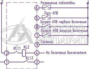 Электрическая схема подключения реле РПВ-258