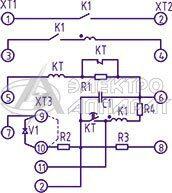 Электрическая схема подключения реле РПВ-58
