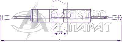 Габаритные и установочные размеры переключателей типа ПКЭ11-11, ПКЭ11-21, ПКЭ11-13, ПКЭ11-23 для установки на рулевой колонке МНБЭТ
